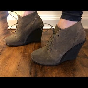 Rag & Bone suede wedge booties